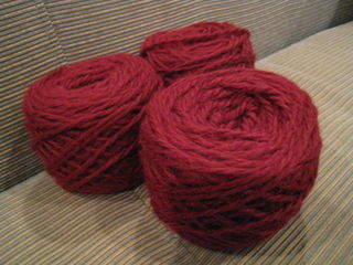Red Yarn for Lovely Lace Scarf