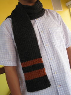 KNIT MENS SCARF PATTERN Knitting Men's Scarves Pattern