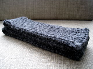 Men's Chunky Ribbed Scarf - Charcoal