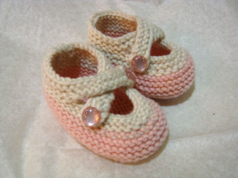 Pink & Creme Booties (side)